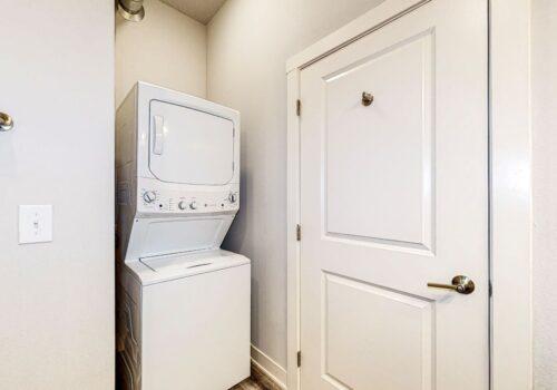 uptown lofts stacking washer-dryer inside bathroom